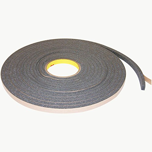 3M Urethane Foam Tape 4317 Charcoal Gray, 1/2 in x 9 yd ()