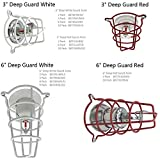 "Happy Tree (8 Pack) White Fire Sprinkler Head Guard for Both 1/2"" & 3/4"" Sprinkler Head 6"" Deep Cage"
