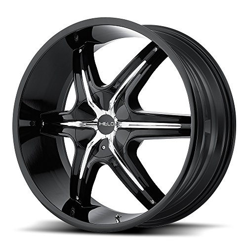 One Helo Gloss Black w/ Accents HE891 Wheel/Rim - 22x9 - Bla