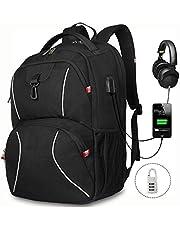Laptop Backpack, Travel Laptop Backpack, URMI Upgraded 17.3inch Anti-Theft Business Laptop Backpack Bag with USB Charging Port Water Resistant College School Computer Rucksack Bag for Men/Women
