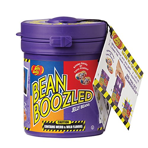 3 Way Popcorn Gift Tin - Jelly Belly BeanBoozled Mystery Bean Jelly Bean Dispenser, 4th Edition, Assorted Flavors, 3.5-oz