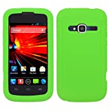 zte concord ii phone cases - Mystcase (TM) For ZTE Concord 2 Z730 Rubber SILICONE Soft Gel Skin Case Phone Cover + Screen Protector (Neon Green)
