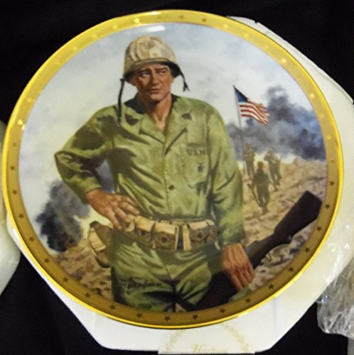 JOHN WAYNE, SYMBOL OF AMERICA'S FIGHTING FORCES Porcelain Collector Plate by The Franklin Mint