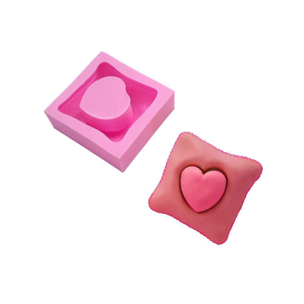 september-europe amor almohada Barra de Jabón Molde, Molde de silicona para tarta Chocolate moldes, Candy moldes: Amazon.es: Hogar