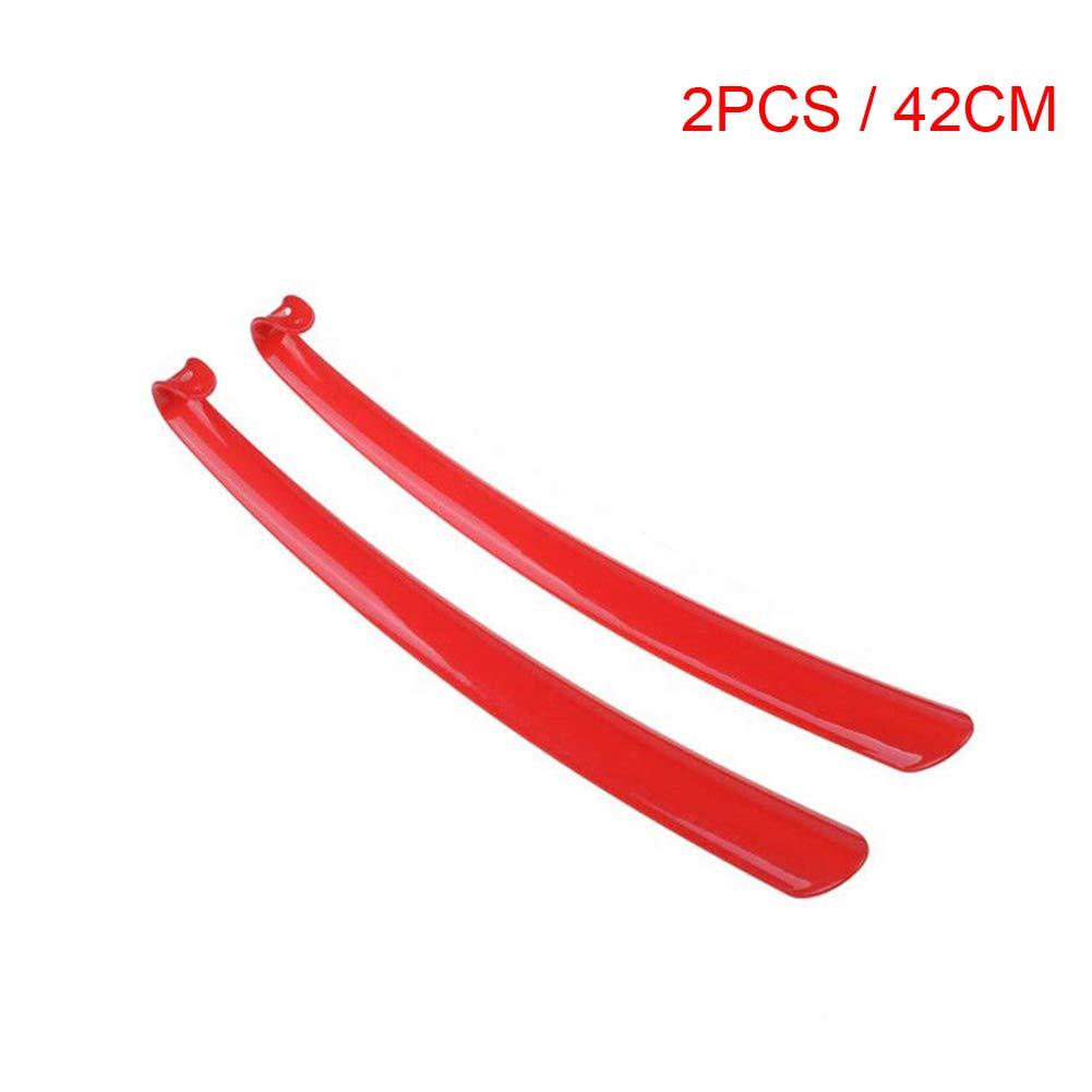 42CM Asseny Plastica Calzascarpe Manico Lungo Duraturo Calzascarpe Aiuto Stick per Casa Albergo 1pc