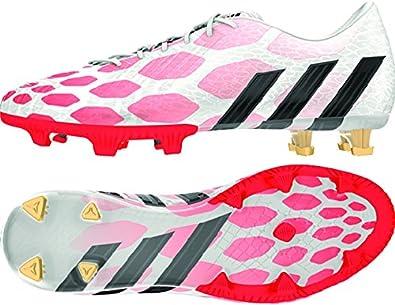ce0a33477316 Amazon.com: Adidas Predator Instinct FG Soccer Cleat (Core White, Solar  Red) Sz. 8.5: Shoes