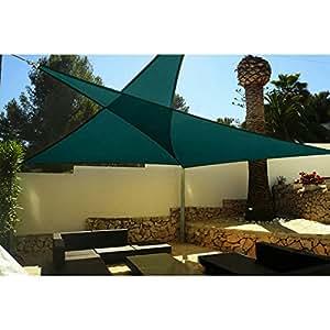 KMS–Toldo® Nueva 16x 16x 16cm Triángulo sol vela de sombra dosel superior al aire libre para Patio jardín w/libre para diabéticos, color verde