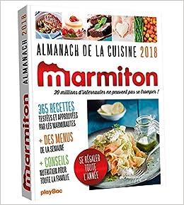 Menu De Noel Facile Et Rapide Marmiton.Amazon Fr Almanach 2018 Marmiton Marmiton Livres