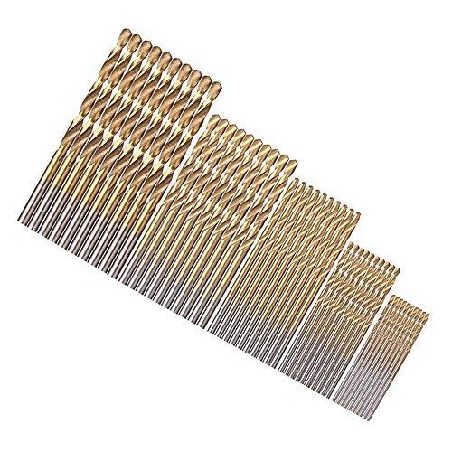 Xilko 50 pcs Dremel Drill Tool Accessories Power Tools Drill Bits Mini Bit Set High Speed Steel Speed Out 1/1.5/2/2.5/3mm