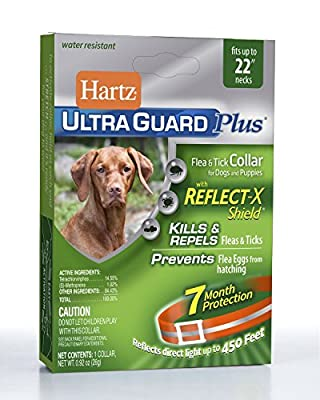 Hartz Ultraguard Plus REFLECTIVE Flea and Tick COLLAR for Dogs by Hartz