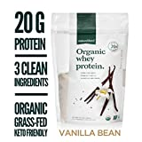 Natural Force Organic Whey Protein Powder 14.2 oz. *Premium Vanilla Flavor* A2 Grass Fed Whey Protein Concentrate - Ranked #1 Best Organic Whey - Certified Keto, Paleo Friendly, Non-GMO and Humane