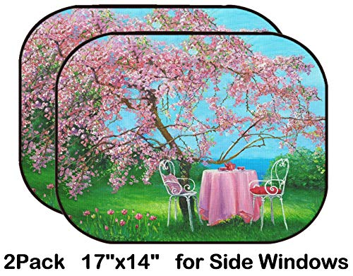 - Liili Car Sun Shade for Side Rear Window Blocks UV Ray Sunlight Heat - Protect Baby and Pet - 2 Pack Blossoming Plum in a Spring Garden Photo 874585