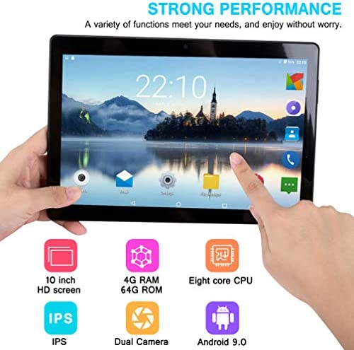 10 inch Android Tablet PC, 4GB RAM 64GB ROM,Octa-Core Processor with HD IPS HD Display,5G-WiFi,Bluetooth, GPS, GMS Certified, M7 (Black) 51XOUh7vkYL