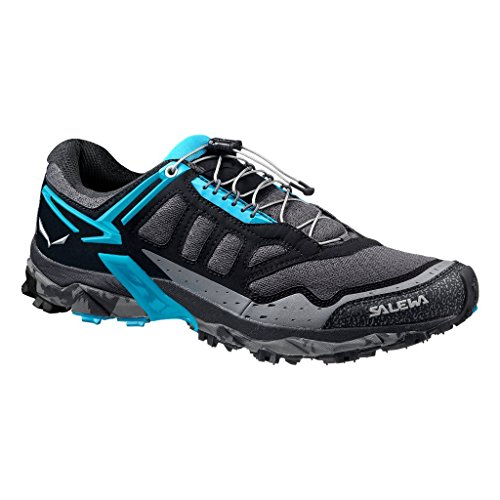 Salewa Women's Ultra Train Mountain Training Shoe, Black Out/Ocean, 10 by Salewa