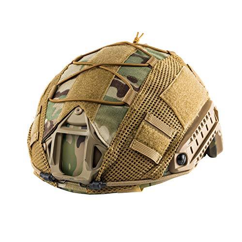OneTigris Multicam Helmet Cover - No Helmet (for Ballistic Fast Helmet in Size L & Fast PJ Helmet in Size L/XL)