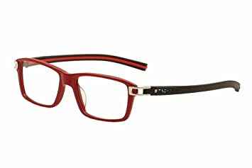 5a3e4018de6 Image Unavailable. Image not available for. Color  Tag Heuer Track S  Eyeglasses TH7601 TH 7601 005 Red Full Rim Optical Frame 55mm