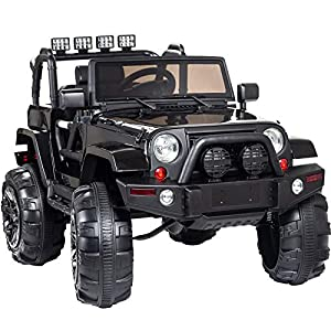 Display4top 12V Electric baby car,Ride On Car Truck w/ Remote Control, 3 Speeds, Spring Suspension, LED Light , Product…