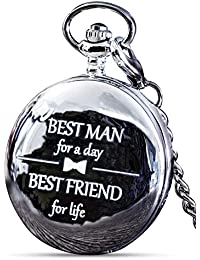 Best Man Gift for Wedding or Proposal - Engraved Best Man Pocket Watch - Luxury Wedding Gift