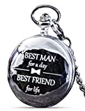 Groomsmen/Groomsman Gifts for Wedding | Best Man | Father of The Bride | Father of The Groom - Pocket Watch Wedding Gift