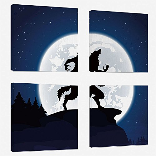 4 Pcs/set Modern Painting Canvas Prints Wall Art For Home De