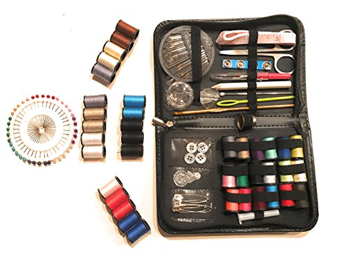 Montsho Publishers 130 piece Travel Sewing Kit (Including FREE Wallet Emergency Sewing Kit)
