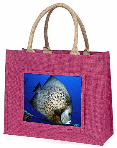 Advanta Funky Fisch Große Einkaufstasche Weihnachtsgeschenk Idee,, jute, Pink, 42x 34,5x 2cm