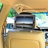 TFY mount-ipad-2coche soporte para reposacabezas de coche para iPad, iPad 2, iPad 3, iPad 4, Negro