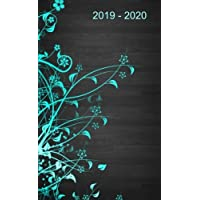 "2019 - 2020: Two-Year Monthly Pocket Planner: 24-Month Calendar , Notes and Phone book, U.S. Holidays, Size : 4.0"" x 6.5"", Hand Lettering Workbook ( Blue Pattern )"