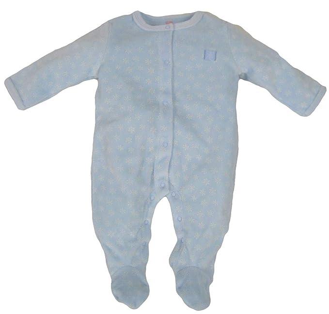 losan 82W-P002AD, Pelele para Dormir para Bebés, Azul (Celeste Medio 132