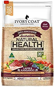 Ivory Coat Adult and Senior Lamb & Kangaroo 13kg Grain Free Dog Food