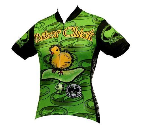 Amazon.com   World Jerseys Women s Biker Chick Cycling Jersey   Women S Biking  Apparel   Clothing f8379b6a9