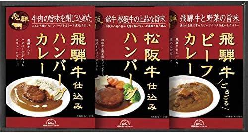 飛騨高山ファクトリー 松阪牛・飛騨牛仕込みハンバーグ&カレー詰合せ