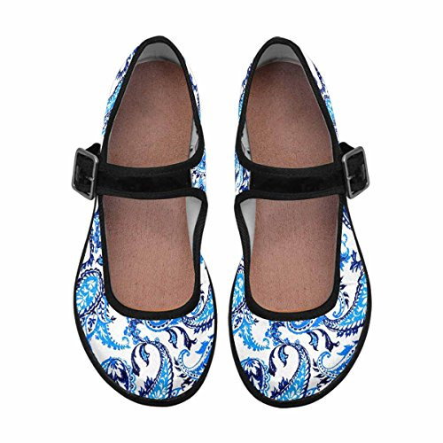Interestprint Womens Comfort Mary Jane Flats Casual Scarpe Da Passeggio Multi 13