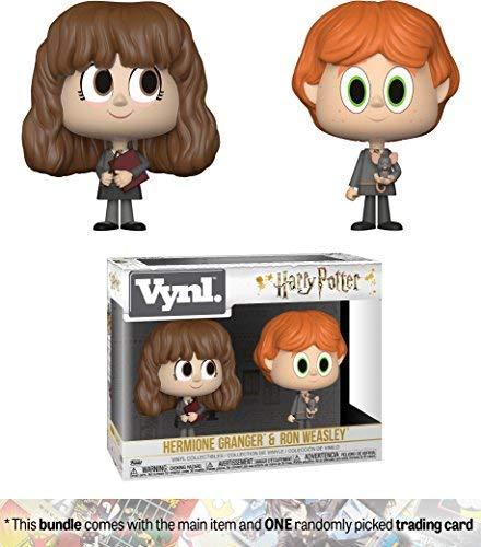 Funko Ron Weasley & Hermione Granger: Harry Potter x Vynl. Vinyl Figure Set + 1 Official Harry Potter Trading Card Bundle [30001]