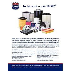Sure Filter SFO4011 Oil filter for GM 25012757