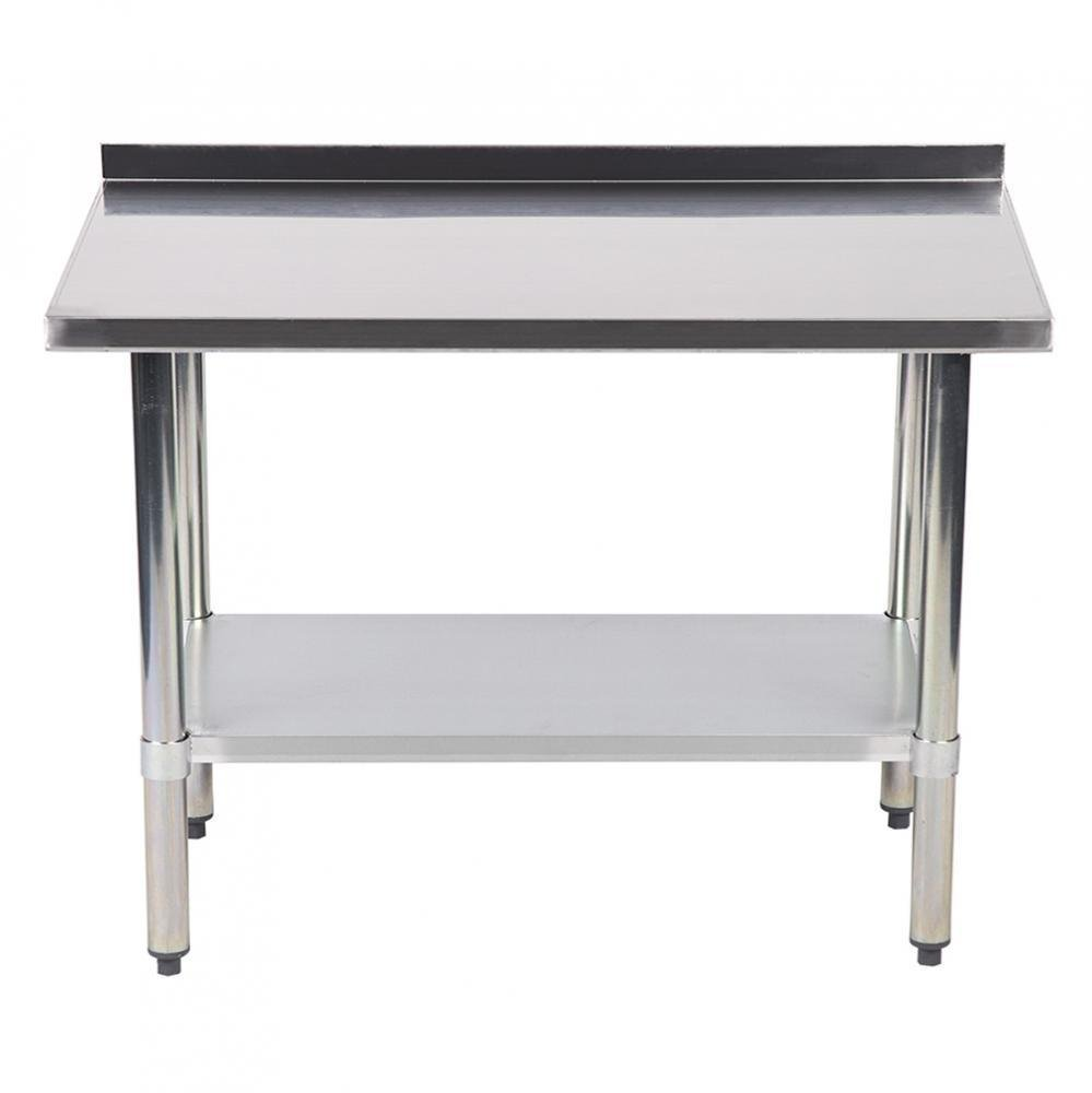 MR Direct 24''x48'' Stainless Steel Work table with Backsplash Kitchen Restaurant table EB