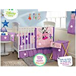 Minnie-Mouse-Disney-Crib-Bedding-Set-Sheets-5PC-Comforter-Bumper-Guard-HeadBoard-Bear-LIMITED-EDITION