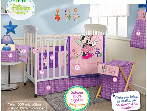 Minnie Mouse Disney Crib Bedding Set Sheets 12PC Comforter Bumper Guard HeadBoard Bear LIMITED EDITION