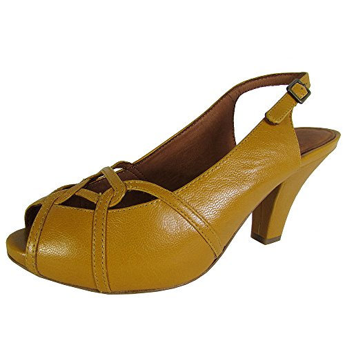 Gentle Souls Womens Rem and Feel KD Peep Toe Slingback Pu...