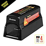 Electronic Mouse Trap / Rat Zapper Perfect for Rats, Mice, Squirrels and Rodents Using Humane Exterminating - Best Pest Control/ Repellent Eliminator -Upgraded Version- by Pestrax (Batteries Included)