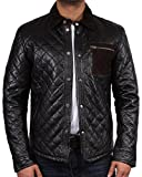Brandslock Men's Leather Biker jacket Brand New With Tag Leather Bomber Jacket Coat Designer Shirt Style Jacket Casual Summer