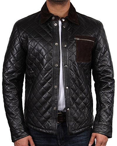 Brandslock Men's Leather Biker jacket Brand New With Tag Leather Bomber Jacket Coat Designer Shirt Style Jacket Casual Summer by Brandslock