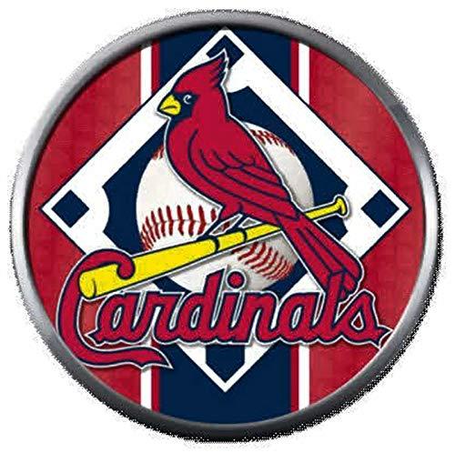 (Bird On Baseball Field MLB St Louis Cardinals Logo 18MM - 20MM Snap Jewelry Charm)