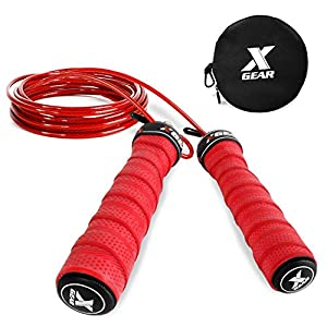 XGEAR Speed Jump Rope- Anti-Skid Handle -2 Adjustable Cable Rope-Fit for Men & Women,Workout for WOD,MMA Or Box Training 10
