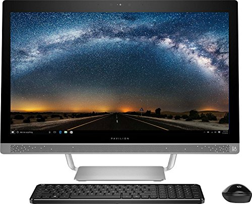 HP Premium All in One Desktop 23.8 Inch Full HD (1920×1080) Touchscreen,7th gen AMD A8-7410 2.2Ghz processor, 8GB Ram, 1TB HDD,DVD Burner,Bluetooth,WiFi/HDMI/Webcam, Window 10