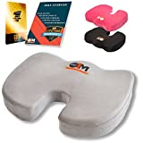 Ergonomic Office Chair Cushion – Memory Foam Orthopedic Seat Cushion That Protects Your Coccyx/Tailbone - Suitable for Wheelchairs, Pregnancy, Sciatic Pain, Airplane Seats, Traveling, and Driving