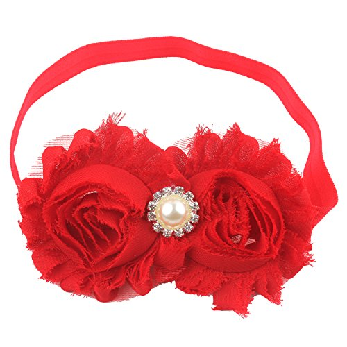 Miugle Baby Girls Headbands with Bows (red)