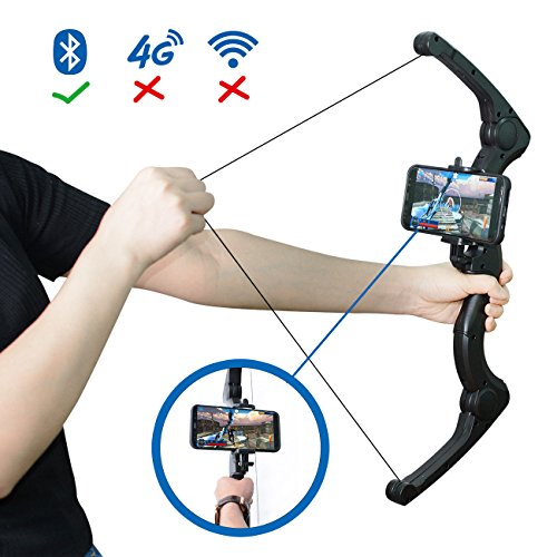 mozeeda Bluetooth AR Bow and Arrow Toy, 2018 Newest Novelty Augmented Reality AR archery Bows Set Foldable Outdoor Indoor Hunting Game Toy with Illusory Arrow For Kids And Adults,Playing with APP