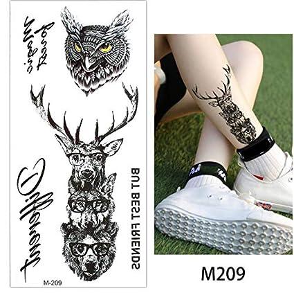 yyyDL Tatuaje temporal falso animal negro pegatina cuerpo mano ...