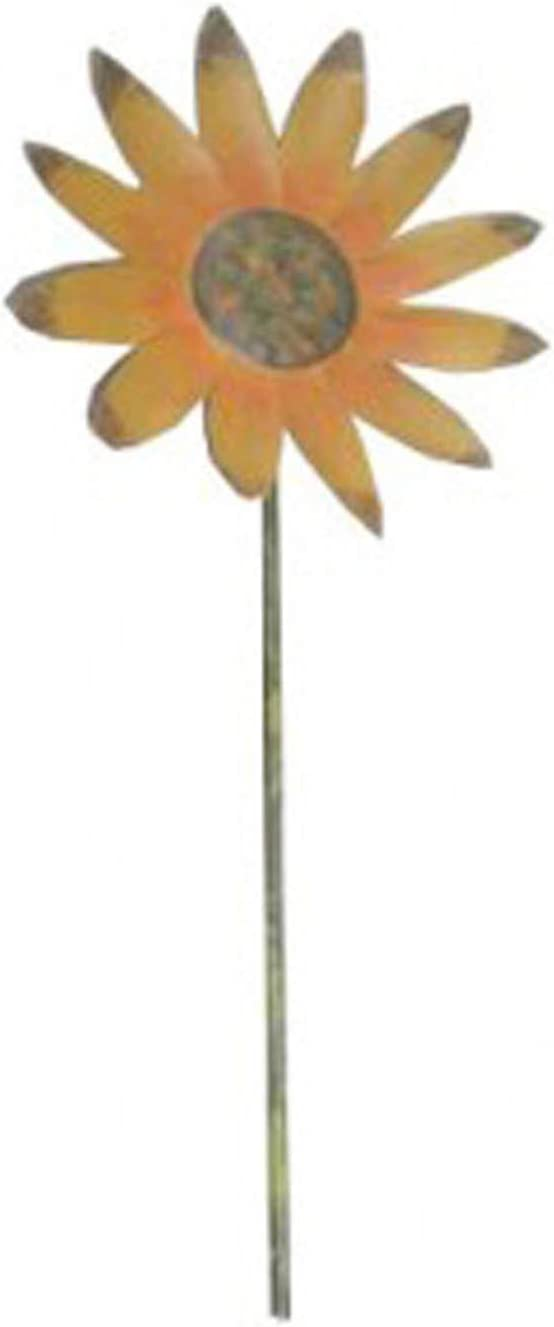 36-Inch Yellow Craft Outlet Tin Daisy Flower Pick